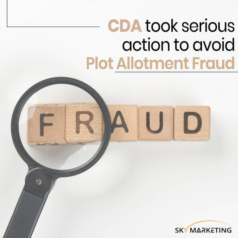 CDA took serious action to avoid plot allotment fraud