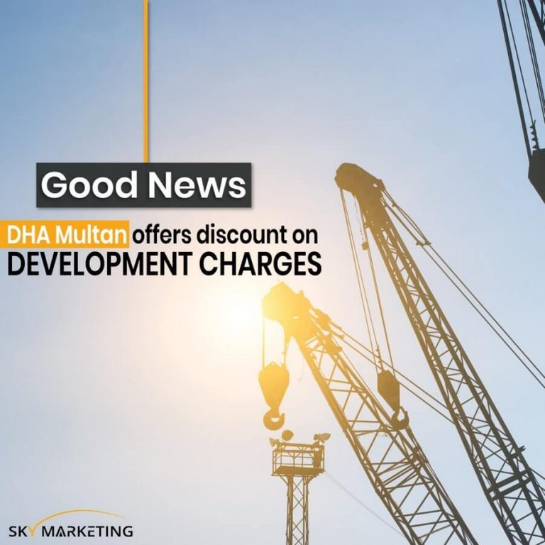 DHA Multan offers discount on Development charges